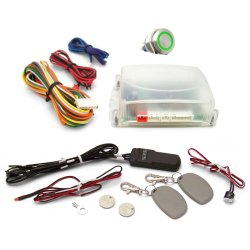 One Touch Engine Start Kit with RFID - Green illuminated Button - Part Number: VPAHFS1002G
