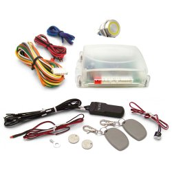 One Touch Engine Start Kit with RFID - Yellow  illuminated Button - Part Number: VPAHFS1002Y