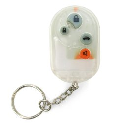 Clear 4 Button Remote Face Plate with Buttons - Part Number: AUTTRX4C1