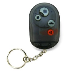 Smoke Black 4 Button Remote Face Plate with Buttons - Part Number: AUTTRX4C2