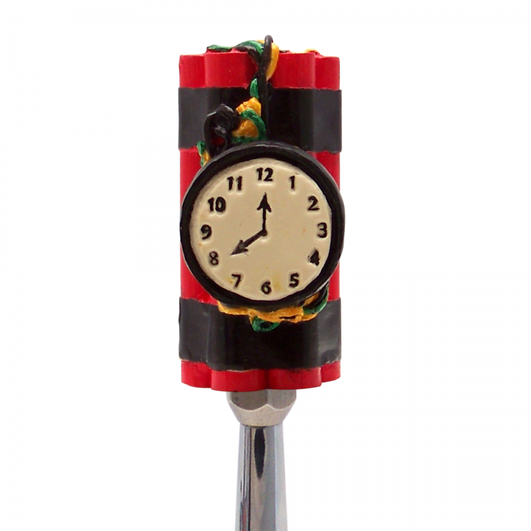 TicBom Bomb with Clock Custom Shift Knob