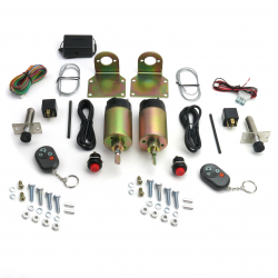 80 Lb Remote Shaved Door Popper Kit with Poppers - Part Number: AUTSVPRO74P