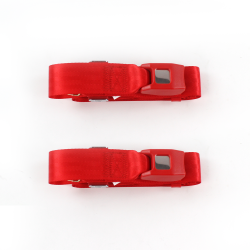 Ford 1928 - 1931 Model A  Standard 2pt Red Lap Bucket Seat Belt Kit - 2 Belts - Part Number: STBA2B987