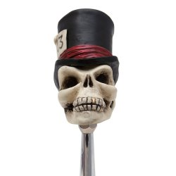 Timmy the Top Hat Skull Custom Shift Knob - Part Number: ASCSN00022