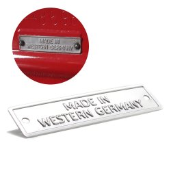 Made in Western Germany - Data Plate for VW Bug Bus Ghia & Porsche 356 - Part Number: VPAVIN105