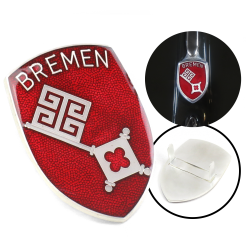 VW Bremen Hood Badge Crest - Part Number: VPAHC003