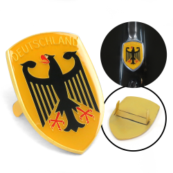 VW German Deutschland Hood Badge Crest - Part Number: VPAHC005