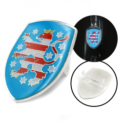 VW Coat of Arms of Freistaat Thuringen Hood Badge Crest - Part Number: VPAHC020