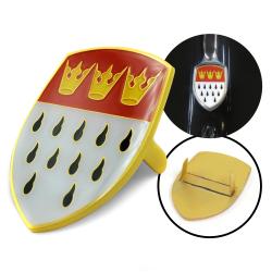 vw cologne flag crest koln hood badge. Black Bedroom Furniture Sets. Home Design Ideas
