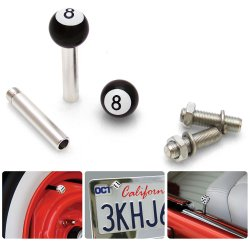 8 Ball 2 Valve Cap, Door Plunger, Plate Bolt Combo Kit  - Part Number: VPAVK1SBK