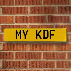 My Kdf Automotive Vw Yellow Stamped Aluminum Street Sign Mancave Wall Art - Part Number: VPAY36BA5