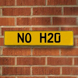 No H20 Automotive Vw Yellow Stamped Aluminum Street Sign Mancave Wall Art - Part Number: VPAY36BB1