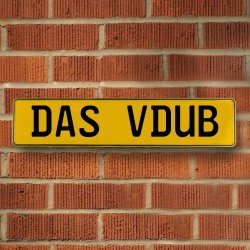 Das Vdub Automotive Vw Yellow Stamped Aluminum Street Sign Mancave Wall Art - Part Number: VPAY36BB3