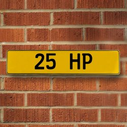 25 Hp Automotive Vw Yellow Stamped Aluminum Street Sign Mancave Wall Art - Part Number: VPAY36BB4