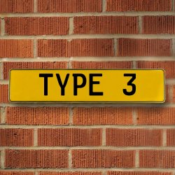 Type 3 Automotive Vw Yellow Stamped Aluminum Street Sign Mancave Wall Art - Part Number: VPAY36BB9