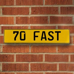 70 Fast Automotive Vw Yellow Stamped Aluminum Street Sign Mancave Wall Art - Part Number: VPAY36C3B