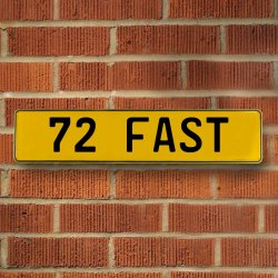 72 Fast Automotive Vw Yellow Stamped Aluminum Street Sign Mancave Wall Art - Part Number: VPAY36C3D