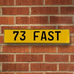 73 Fast Automotive Vw Yellow Stamped Aluminum Street Sign Mancave Wall Art - Part Number: VPAY36C3E