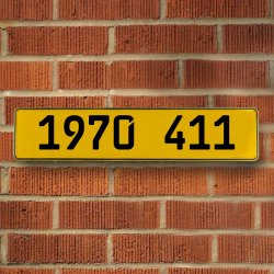 1970 411 Automotive Vw Yellow Stamped Aluminum Street Sign Mancave Wall Art - Part Number: VPAY36C5E