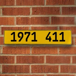 1971 411 Automotive Vw Yellow Stamped Aluminum Street Sign Mancave Wall Art - Part Number: VPAY36C5F