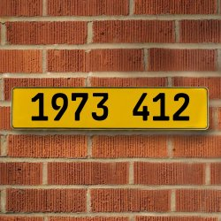 1973 412 Automotive Vw Yellow Stamped Aluminum Street Sign Mancave Wall Art - Part Number: VPAY36C62