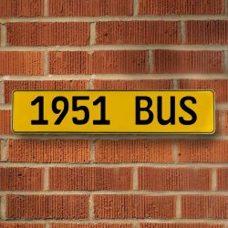 1951 Bus Automotive Vw Yellow Stamped Aluminum Street Sign Mancave Wall Art - Part Number: VPAY36C72