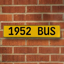 1952 Bus Automotive Vw Yellow Stamped Aluminum Street Sign Mancave Wall Art - Part Number: VPAY36C73