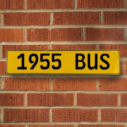 1955 Bus Automotive Vw Yellow Stamped Aluminum Street Sign Mancave Wall Art - Part Number: VPAY36C76