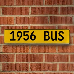 1956 Bus Automotive Vw Yellow Stamped Aluminum Street Sign Mancave Wall Art - Part Number: VPAY36C77