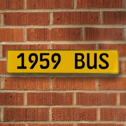1959 Bus Automotive Vw Yellow Stamped Aluminum Street Sign Mancave Wall Art - Part Number: VPAY36C7A