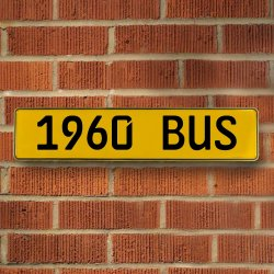 1960 Bus Automotive Vw Yellow Stamped Aluminum Street Sign Mancave Wall Art - Part Number: VPAY36C7B