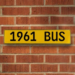 1961 Bus Automotive Vw Yellow Stamped Aluminum Street Sign Mancave Wall Art - Part Number: VPAY36C7C