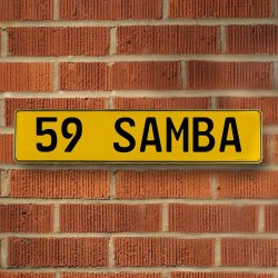 59 Samba Automotive Vw Yellow Stamped Aluminum Street Sign Mancave Wall Art - Part Number: VPAY36CA1