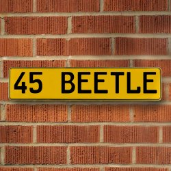 45 Beetle Automotive Vw Yellow Stamped Aluminum Street Sign Mancave Wall Art - Part Number: VPAY36CB1
