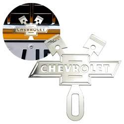 Topper Green LED Illumination, Hot Rod Jewel Safety Star Vintage Parts 701965 Chromed License Plate