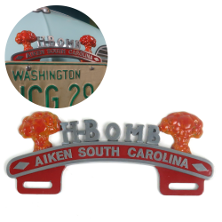 H-Bomb License Plate Topper - Aiken South Carolina - Part Number: VPALPT017