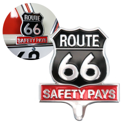 Route 66 License Plate Topper - Part Number: VPALPT010