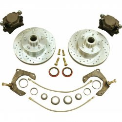 Round Rotor Mustang II 11in HP Big Brake Conversion Kit Ford Pattern  - Part Number: HEXBRK12R