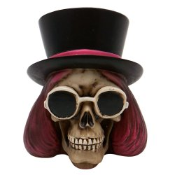 Willy Wonka Skull Custom Shift Knob and Topper - Part Number: ASCSN06016