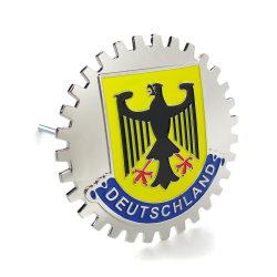 Deutschland Grille Emblem Badge w/ Bracket for Porsche BMW VW Mercedes Benz Audi - Part Number: AUTFGE07
