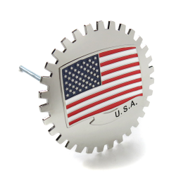 "UltraEmblem ""'U.S.A."" Grill Emblem Badge - Part Number: AUTFGE08"