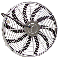"16"" Chrome Radiator Fan - Part Number: JLMFANC16S"