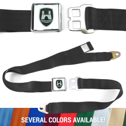 VW Volkswagen Wolfsburg Lap Seat Belts with Chrome Lift Buckle - 1 Belt - Part Number: 10015692