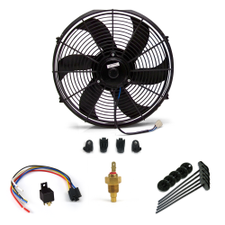 "Super Cool Pack 10"" S Blade Fan, Fixed Temp Switch & Harness - Part Number: ZIRZFK110Y1"
