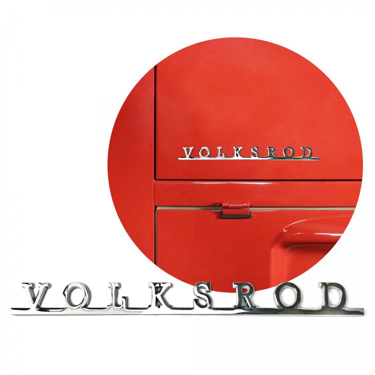 VW Volksrod Script Emblem Badge for Volkswagen Bug Bus