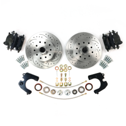 "Round Rotor Mustang II 12.5"" High Performance Big Brake Conversion Upgrade Kit 5 on 5 Lug Pattern - Direct Bolt On - Part Number: HEXBRKEC6EE"