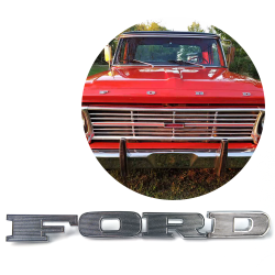 "Vintage 1967, 1968, 1969 Ford Truck Chrome Front Hood Letter Emblem Set Ideal For F100 F250 F350 - ""F.O.R.D."" - Set of 4 - Part Number: VPAE11"