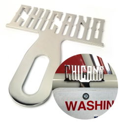 Chicano Chromed License Plate Topper - Part Number: VPALPT026