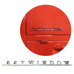 VW Baywindow Script Emblem Badge for Volkswagen Bug Beetle Bus Camper Samba - Part Number: VPAE21