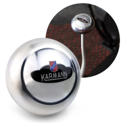 VW Karmann Ghia Crest Billet Gear Shift Knob M10 for Sedan & Convertible - Part Number: LABSN6R